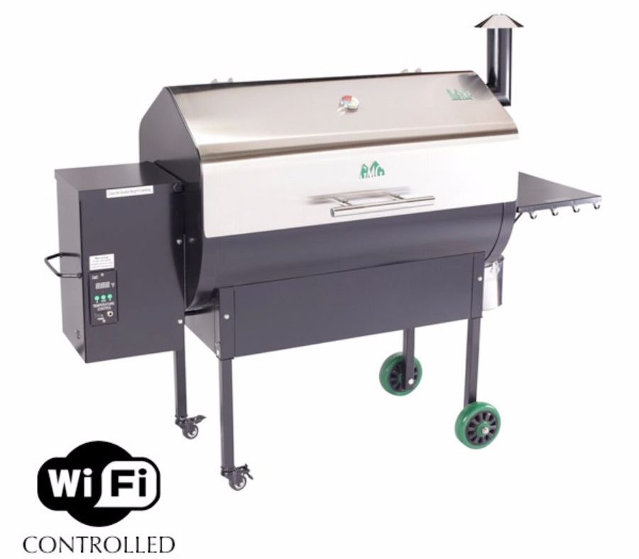 Green Mountain Pellet Grills Jim Bowie Stainless WiFi Pellet Grill